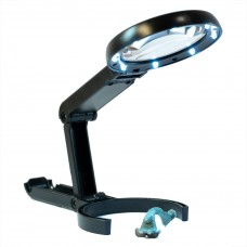 Lightcraft Folding LED Magnifier with Stand