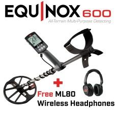 Minelab Equinox 600 + Free ML80 Wireless Headphones